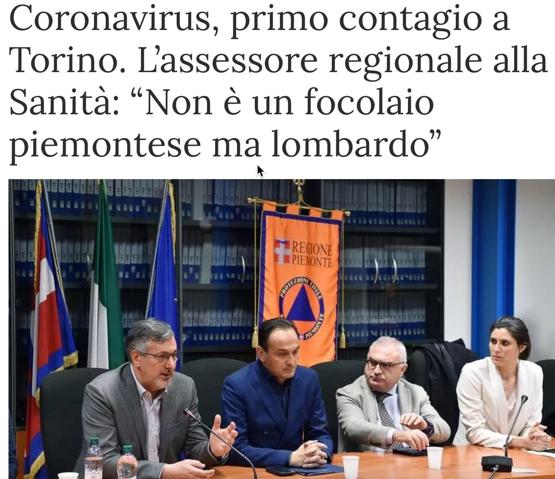 Icardi espone la teoria del focolaio lombardo in conferenza stampa (22 febbraio 2020)